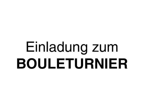 Bouleturnier des SV 21 Bonenburg