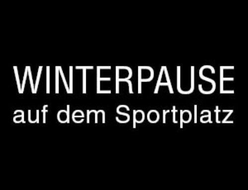 Winterpause auf dem Sportplatz