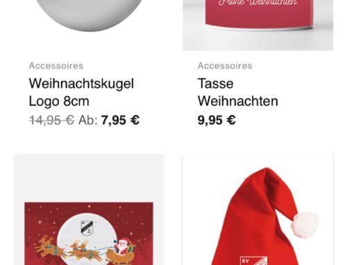 Weihnachtsartikel im Onlineshop